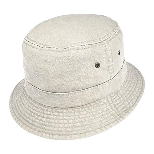 Village Hats Chapeau Bob Pliable en Coton Mastic - Large