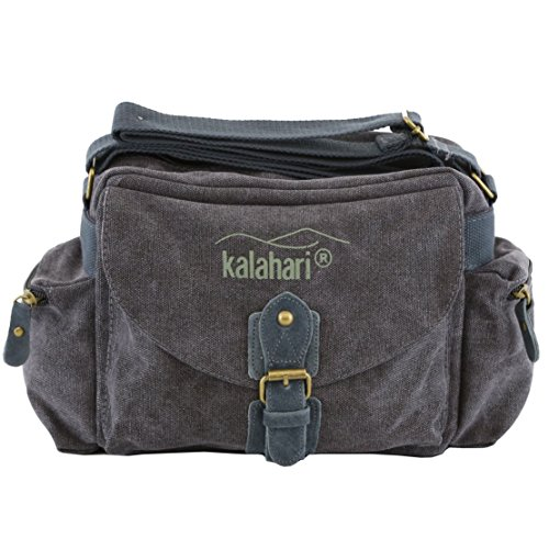 Kalahari 440163 Schultertasche Molopo K-41i, canvas-schwarz