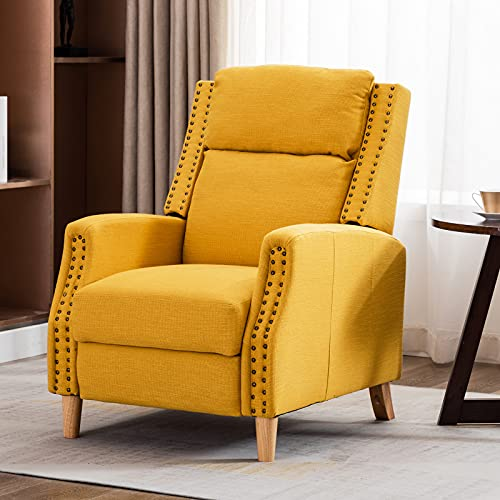 Artechworks Recliner Armchairs Linen Push Back Reclining Sofa Chair,Accent Lounge Chair with...