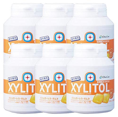 歯科専用 キシリトールガム ボトルタイプ オレンジ (約90粒) 6個セット