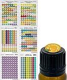Etiquetas de aceite esencial doTERRA con diseño de tapa y tapa para botellas de aromaterapia EO. Incluye aceites de convención 2018, 2019. 528 pegatinas, 6 hojas de Got Oil Supplies