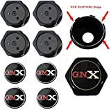 GBodyParts 1987 GNX Grand National Wheel Center Caps Redesigned with SNAP Rings - Set of 4