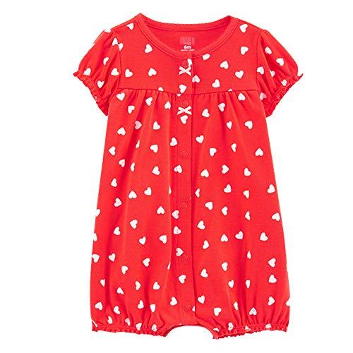 Baby Strampler Mädchen Jumpsuit Neugeborenes Sommer Pyjama Baumwolle Kurzarm-Body 3-6 Monate