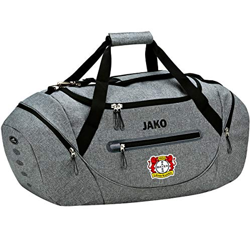 JAKO Champ mit Nassfach, (Saison 19/20) Bayer 04 Leverkusen Sporttasche, grau meliert, 02 (JOne sizeor)