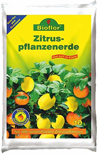 Bioflor Premium Zitronenerde Zitruserde für alle Arten von Zitrusfrüchten geeignet 10Ltr.