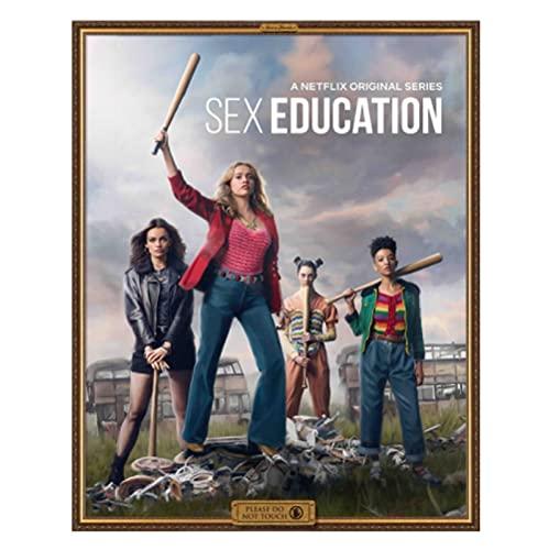Weiqiaolian Serie TV Commedia drammatica Popolare Britannica Educazione Sessuale Famiglia Decorazione murale Arte Pittura Poster Pittura su Tela(50X70Cm) -20x28 Pollici Senza Cornice