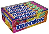Mentos Chewy Mint Candy Roll, Fruit, Non Melting, Party, 14 Pieces (Bulk Pack of 15) - Packaging May Vary from Perfetti Van Melle