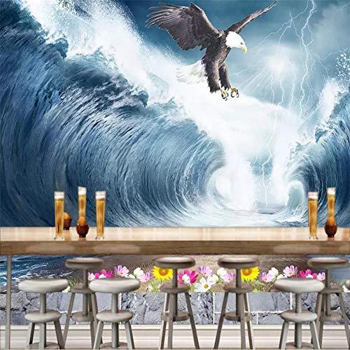 Tapete Fototapete Benutzerdefinierte Tapete Seeadler Surf Tv Hintergrund Wohnkultur Hintergründe Wohnzimmer Schlafzimmer Hintergrund Wandbild 3D Wallpaper-About_430 * 300Cm_3_Stripes_