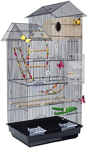 Gabbia per uccelli durevole e rispettosa dell'ambi Gabbia di volo per parrocchetti Decorativi Bird Cage Decorazioni per la casa, grande gabbia di lusso di lusso, gabbia per uccelli decorativi a forma