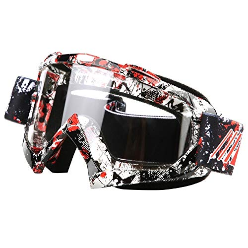 KSTE Moto Motocross Dirt Bike Racing Skibril P932 Lens helder