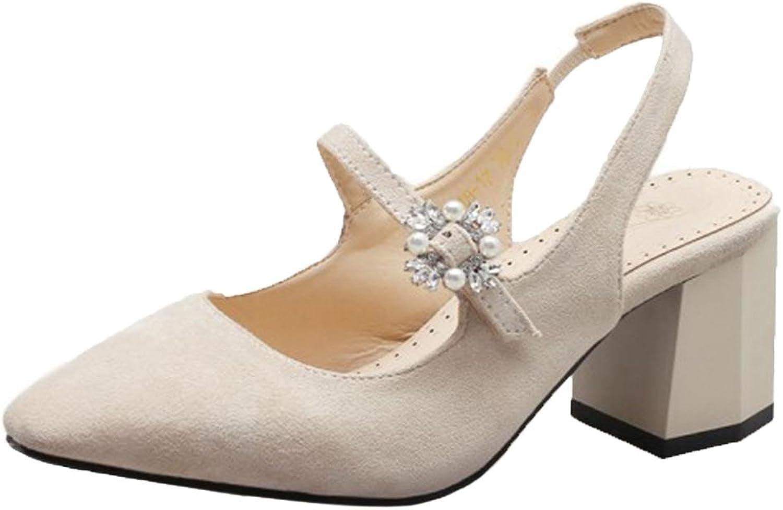 FizaiZifai Women Chunky Heel Sandals shoes