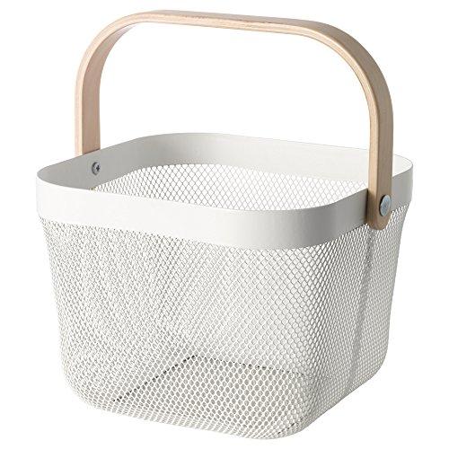 【IKEA/イケア】RISATORP バスケット, ホワイト