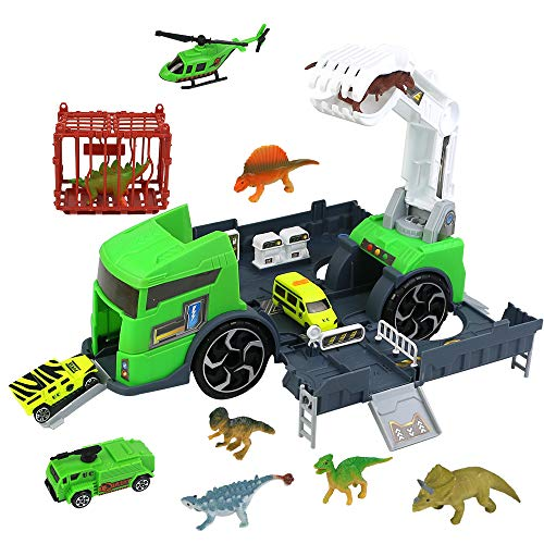 jerryvon Dinosaurios Camion Juguetes Figura Dinosaurio Juguete Camion...