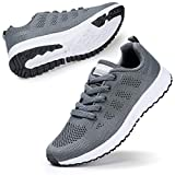 STQ Womens Athletic Walking Running Tennis Shoes Fashion Sneakers. Grey 9