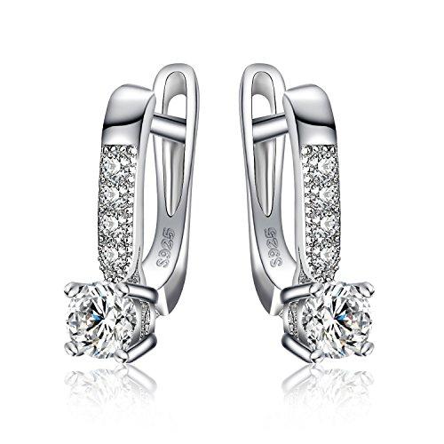 JewelryPalace 1ct Cubic Zirconia CZ Orecchini a Cerchio Regalo Per Donne Argento Sterling 925