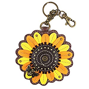 Chala Sunflower Key Fob/Coin Purse, Chala Keychain