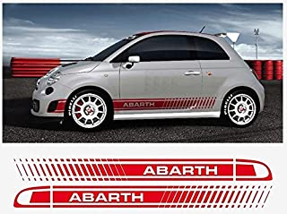 Fiat 500 Assetto Corsa side decal decal Abarth 2 pcs. Set (red)