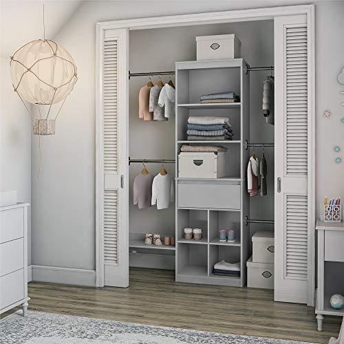 Little Seeds Grow with Me Grey Adjustable Kids Closet Organizer System