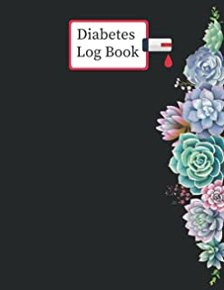 Diabetes Log Book: 2 years, Daily Target Blood Sugar Range Insulin Does Carb Phys Activity Record