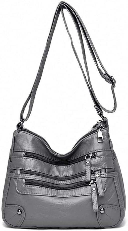 Crossbody Bag Women's Soft Leather Under blast sales Max 40% OFF Bags Shoulder Cla Multi-Layer
