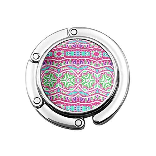 Lindo Perchero Plegable para Mesa, Gancho Personalizado para Bolso para Coche, Verde, Femenino, Colorido, Abstracto, Rosa, Verde Azulado, Floral, Lindo neón