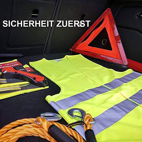 JHCtech 5 Stück Warnwesten Auto, Neon Gelb Waschbar 360 Grad Reflektierende Sicherheitsweste für Die Sicherheit Von Fahrern, Fahrern und Arbeitern mit Hohem Risiko(EINWEG) - 8
