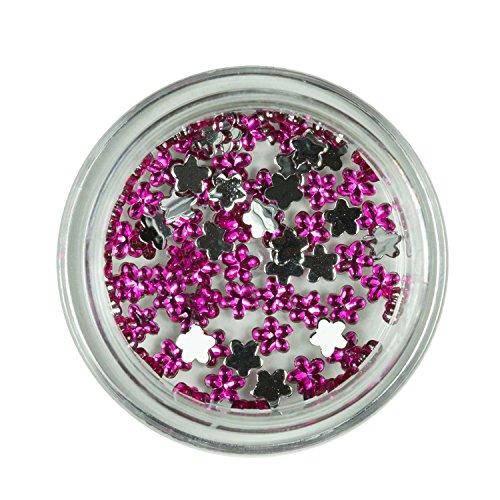 Strass Fleurs Rose Pop de pierres de strass avec décoration en cristal Rhinestones Nail Art
