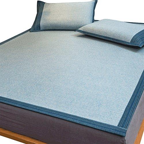 Tapis de siège en rotin de qualité supérieure Tapis de lit en 1,8 M Double 1,5 mètres Tapis de soie de glace en été Pliant en trois ensembles L'assurance de la qualité n'est pas de bonne qualité Xuan - worth having ( taille : 180*200cm )