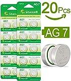 Act 20 Alkaline Knopfzellen ohne Quecksilber AG7/LR57/LR926/395/1,5 Volt, 10er-Pack
