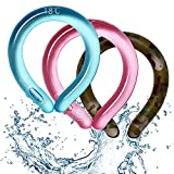 Neck Cooling Tube (Blue,1) | Wearable Cooling Neck Wraps Band for Summer Heat I Hands Free Cold Gel Ice Pack | Reusable Neck Cooler | Cool Time for Commute, Outdoor Activity, Beach, Hiking and Camping | Relief for Hot Flashes or Fever