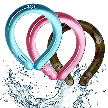 Neck Cooling Tube  Blue 1  | Wearable Cooling Neck Wraps for Summer Heat I Hands free Cold Gel Ice Pack | Reusable Neck Cooler | Relief for Hot Flashes and Fever