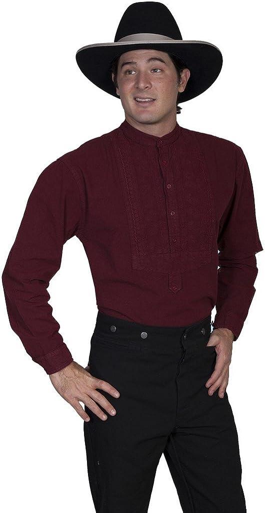 Scully Rangewear Men's Rangewear Paisley Inset Bib Shirt Big and Tall