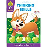 School Zone - Thinking Skills Workbook - 64 Pages, Ages 3 to 5, Preschool to Kindergarten, Problem-Solving, Logic & Reasoning Puzzles, and More (School Zone Get Ready! Book Series)
