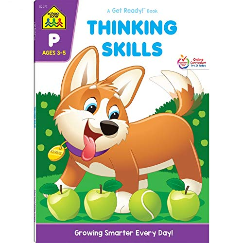 School Zone - Thinking Skills Workbook - 64 Pages, Ages 3 to 5, Preschool to Kindergarten, Problem-S
