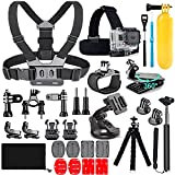TANSUO 26-in-1 Action Camera Accessories for GoPro Hero 9 8 Max 7 6 5 4 Black GoPro 2018 Session Fusion Silver White Insta360 DJI Osmo Action SJCAM APEMAN AKASO and Others Cameras