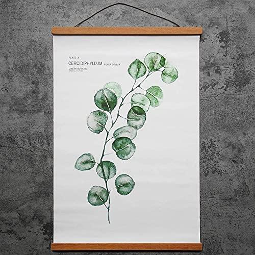 Cornice Portafoto, Listello magnetico per Poster, Cornice Magnetica per Poster in Legno, per Stampe Artistiche, Camere da Letto, Soggiorno e Ufficio (Larghezza: 20 cm)
