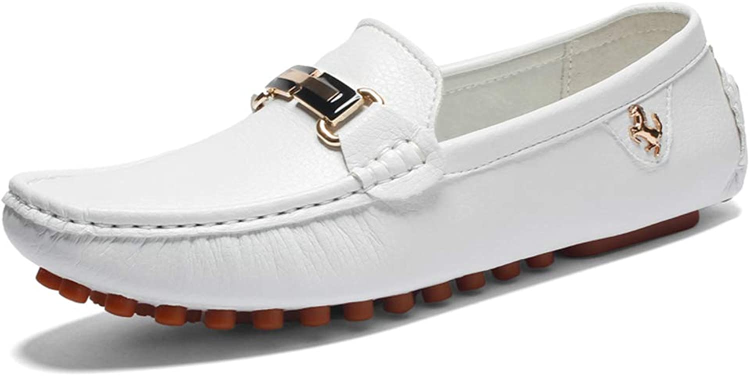 Men's Casual Flat Loafers, Breathable Business Driving shoes Loafers & Slip-Ons Lazy shoes for Work, Leisure, Going out, Gatherings