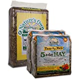 Tigerbox Natures Own 2 Kilogram Timothy Rich 5aDay Hay and 3.5 Kilogram Meadow Hay Foraging Rabbit Guinea Pig Food Bedding