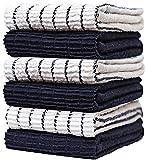 Asciugamani da cucina di alta qualità (16' x 28', confezione da 6 pezzi), grandi asciugamani da cucina in cotone – Design chef Weave – 380 g/mq altamente assorbenti con passante per appendere Dainty