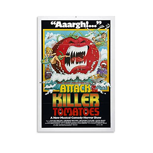 HUHUHU Póster de la película Attack of The Killer Tomatoes y arte de la pared con impresión moderna para dormitorio familiar, 40 x 60 cm