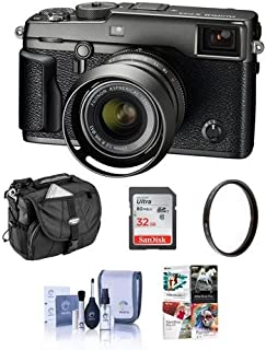 Fujifilm X-Pro2 Mirrorless Camera with XF 23mm f/2 R WR Lens, Graphite - Bundle with Camera Bag, 32GB Class 10 U3 SDHC Card, 43mm UV Filter, Cleaning Kit, Pc Software Package