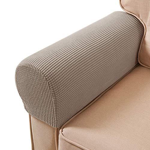 ESRISE Armlehnen-Stuhlbezüge, Stretch-Sessel, Couch, Armlehnenbezug, rutschfest, Spandex-Polyester, Sofa-Stuhl-Armlehnen, Schonbezüge für Möbelschutz, 2er-Set (Sand)