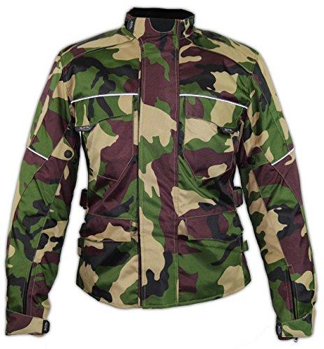 MDM Textil Motorrad Jacke Motorradjacke Camouflage wasserdicht Wärmeschutzjacke (3XL)