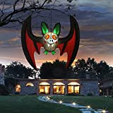 COMIN 5 FT Halloween Decorations Inflatable Hanging Giant Wing Bat Built-in with Bright LED Light, Halloween Decoration Party, Indoor/Outdoor, Yard, Garden, Patio, Lawn Halloween Blow Ups Decoration