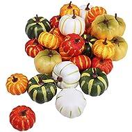 28 Pcs Mini Artificial Pumpkins Table Decor Fall Wedding Fall Wreaths Fill Vases, Baskets, Or Cornucopias Autumn Table Vignettes