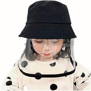 Girls Bucket Hat Waterproof Protective Hat Dustproof Visor Boys Fishing Hat Children(4-8Years)