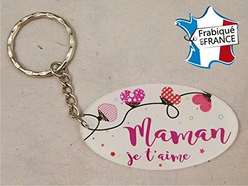 Porte Clef - Maman je t'aime (Cadeau Baptême, fête des mères, anniversaire, Noël …)