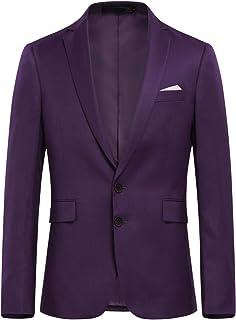 Allthemen Mens Slim Fit Casual Blazer 2 Buttons Formal Business Suit Jackets Single Breasted Wedding Tuxedo Smart Blazer