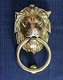 StonKraft colección de hogar - aldaba de puerta de león de bronce hermosa puerta, accesorios de puerta, aldaba de puerta (6 pulgadas)