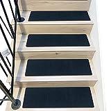 D L D Peldaños de Escalera de 8'x 30' rieles de Escalera Interior Antideslizantes para peldaños de Madera, Paquete de 7 Tiras Antideslizantes para Mayor Seguridad y Agarre (Azul Marino)